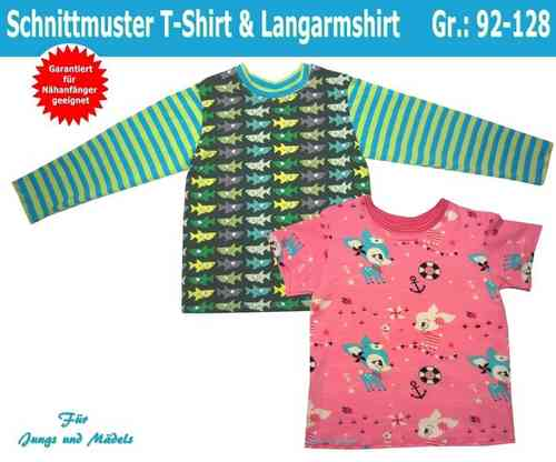 ... und Langarmshirt/Sweatshirt selber nähen, Schnittmuster Shirt Kind